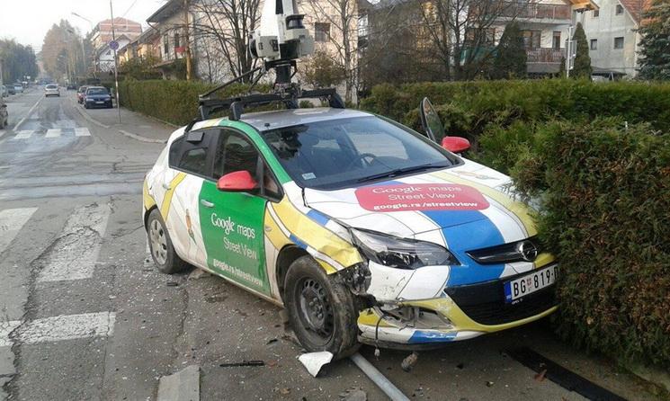 opel astra google streetview kroation unfall